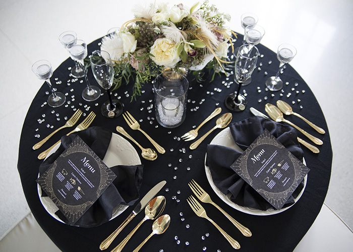 Art Deco Wedding Menus