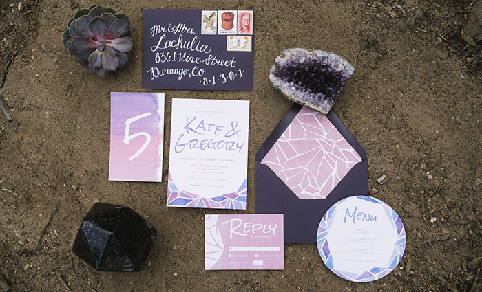 Sand Dunes Boho Wedding Stationery