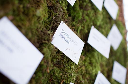 Moss Escort Card Display
