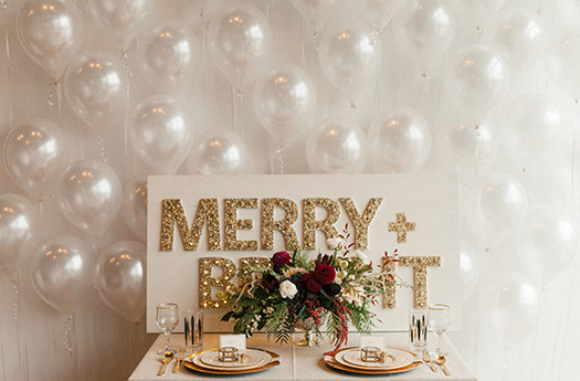 Holiday Balloon Wall