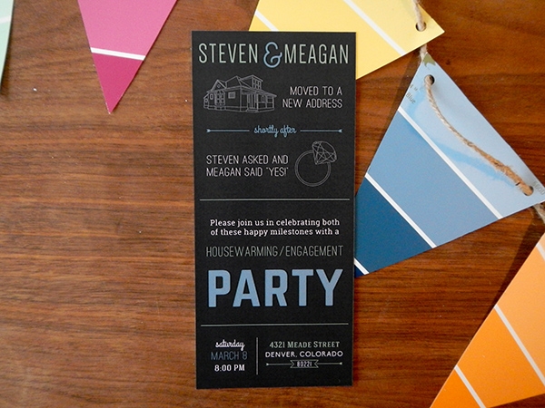 Housewarming Engagement Party Invite