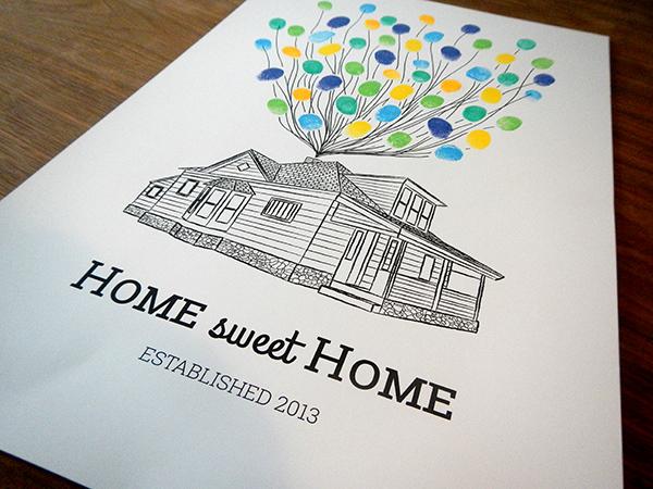 Housewarming Thumb print Guest Book