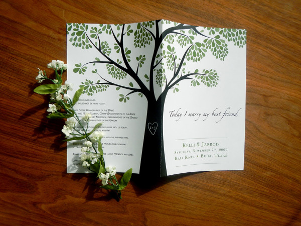 Kelli & Jarrod Austin Wedding Programs