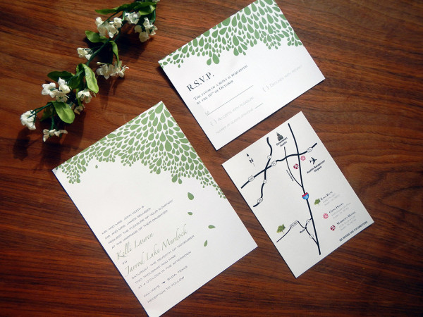 Kelli & Jarrod Austin Wedding Invitation Full Set