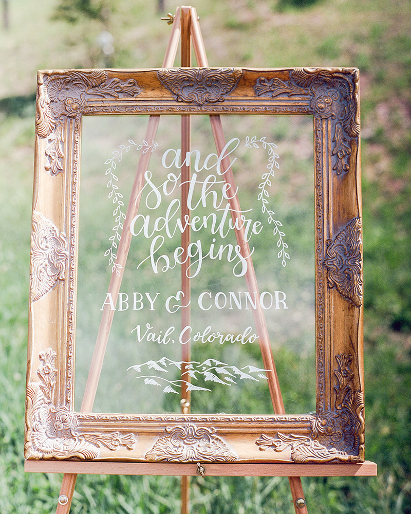 acrylic sign wedding and so the adventure begins