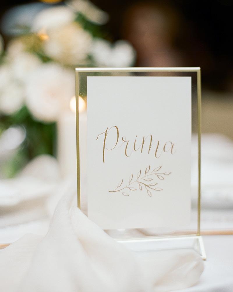 Vail Wedding table numbers ski runs