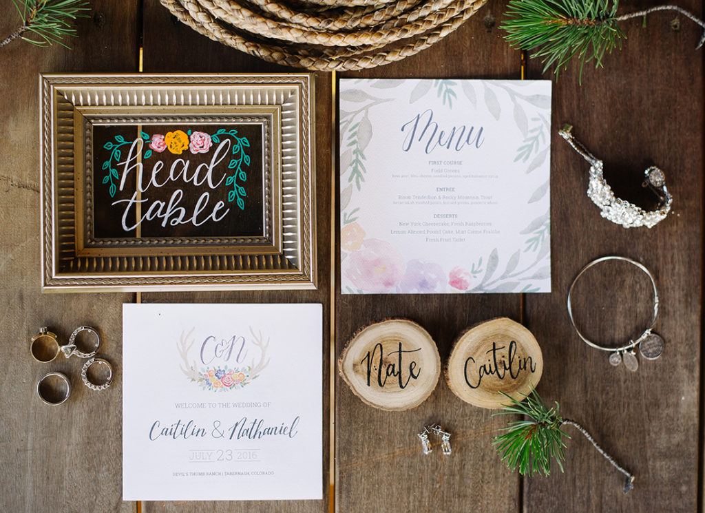 ranch wedding design details