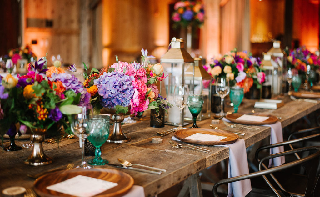 colorful rustic ranch wedding