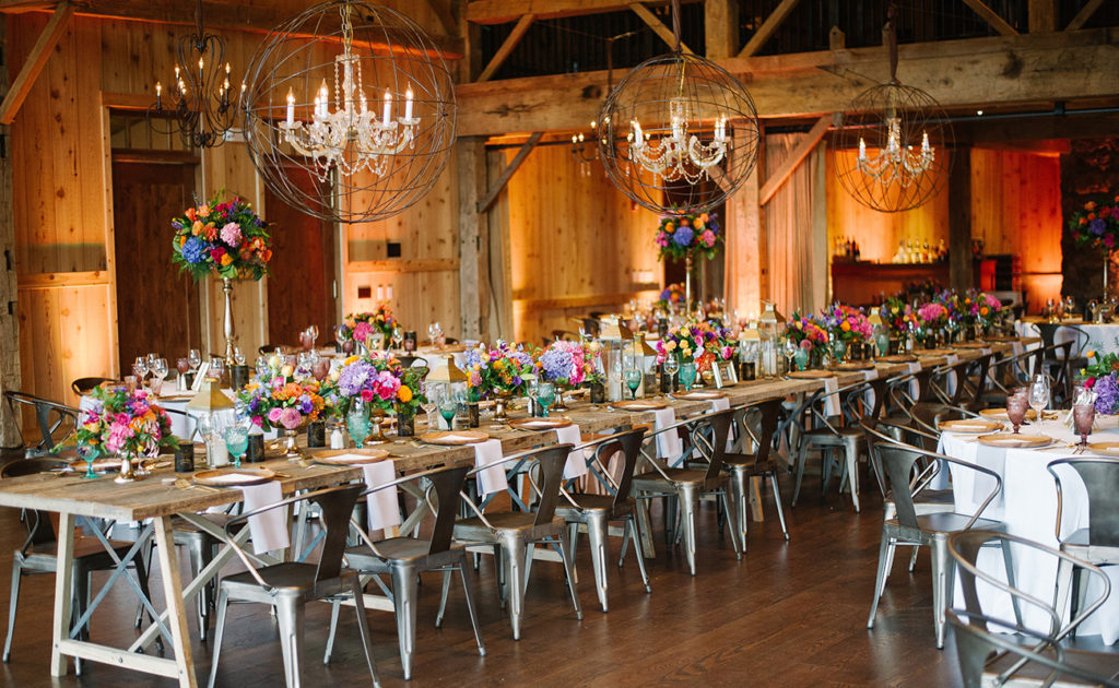 devil's thumb ranch colorful wedding