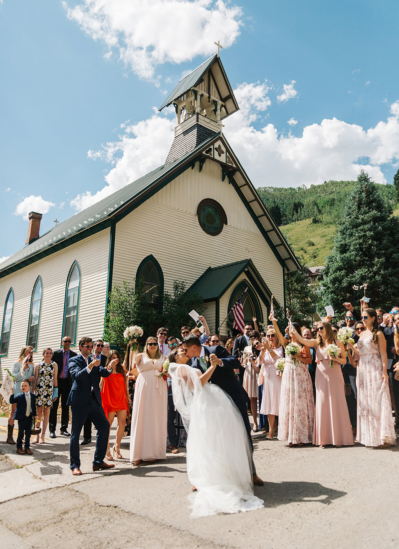 Destination wedding in Telluride Colorado