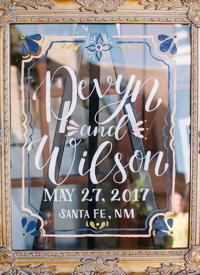 santa fe wedding acrylic welcome sign