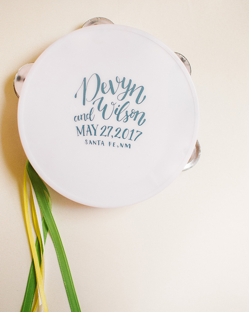tambourine wedding favors