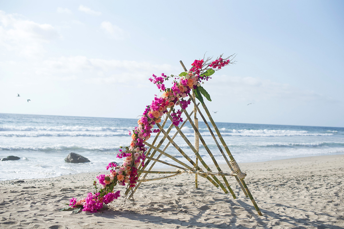 Beach Wedding Ceremony Backdrop