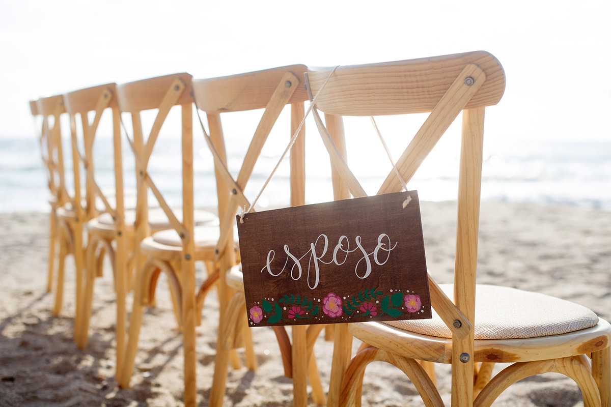 "Hand Painted Esposo ""husband"" wooden sign - Mexico destination wedding"