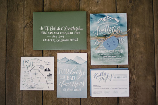 hand lettered wedding invitations