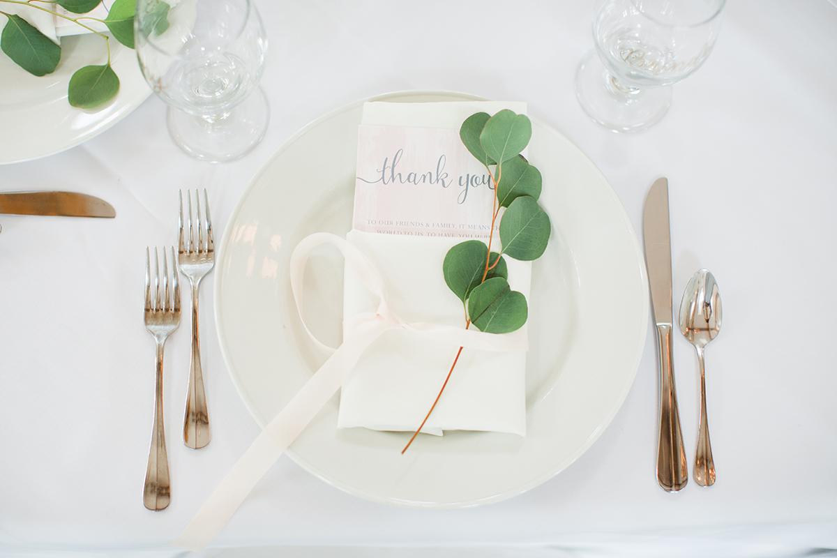 wedding thank you table setting