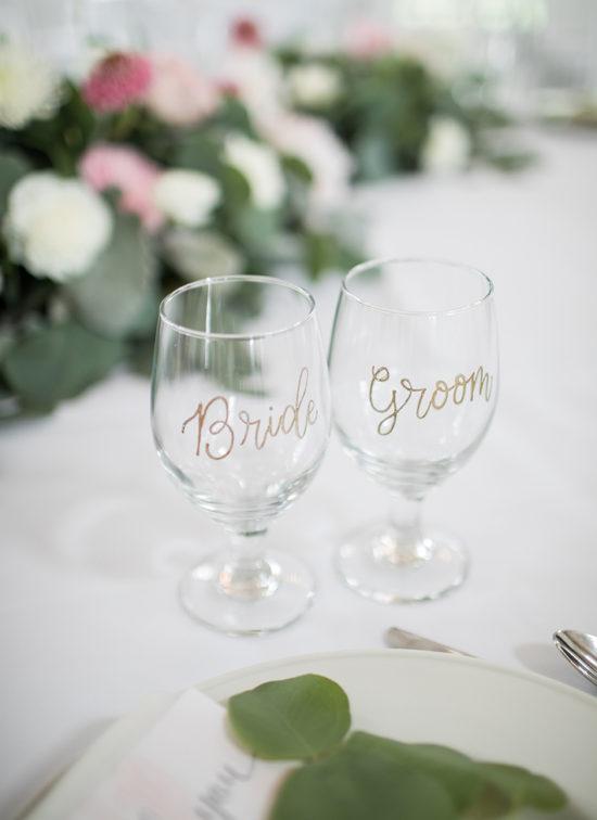 bride groom wine glasses