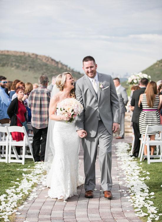 classic wedding colorado foothills