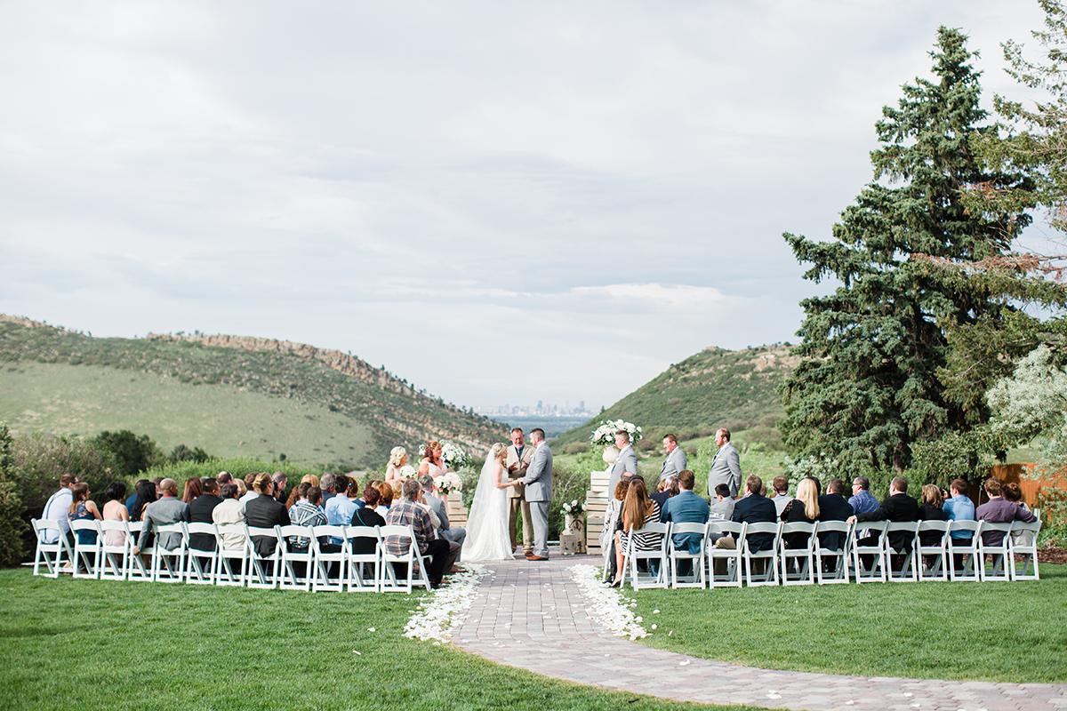 colorado foothills wedding