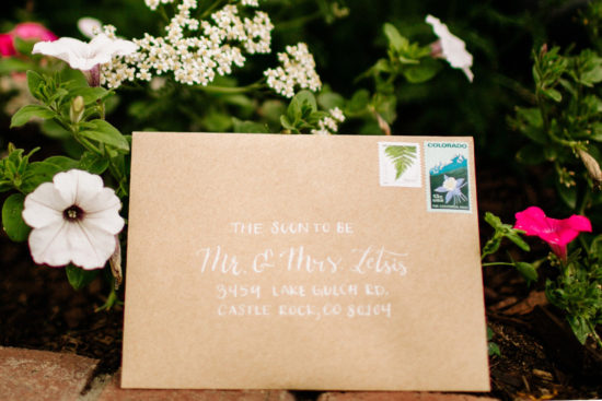 10 Tips for Addressing Your Envelopes Calligraphy Wedding Envelope Addressing - white ink on kraft paper