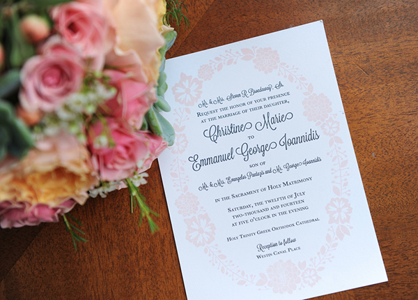 New Orleans Greek Orthodox Wedding Invitation