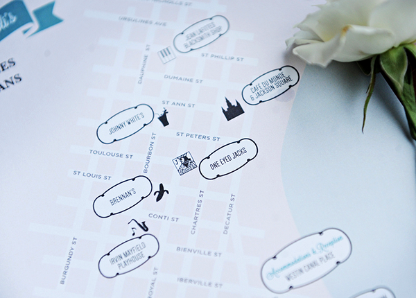 New Orleans Wedding Map