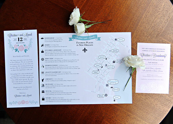 New Orleans Greek Orthodox Wedding Invitation Suite