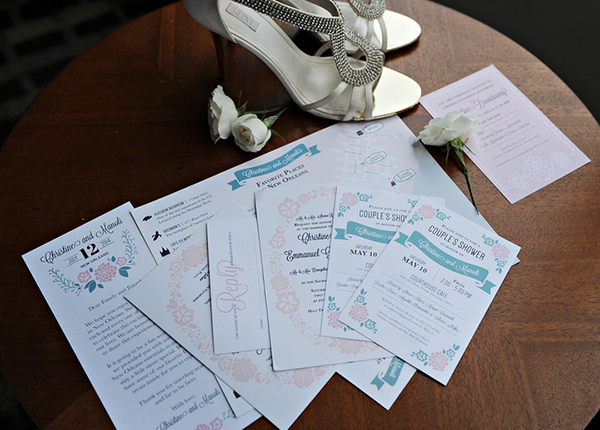 New Orleans Greek Orthodox Wedding Stationery