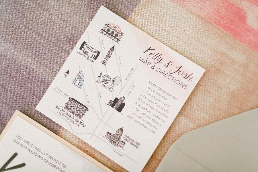 Watercolor Invitations Hand Drawn Map