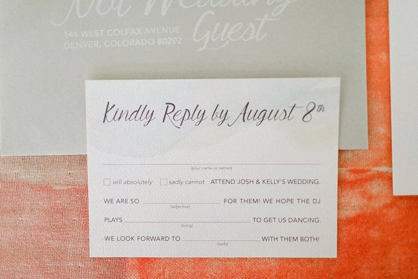 Watercolor Ad-lib RSVP card