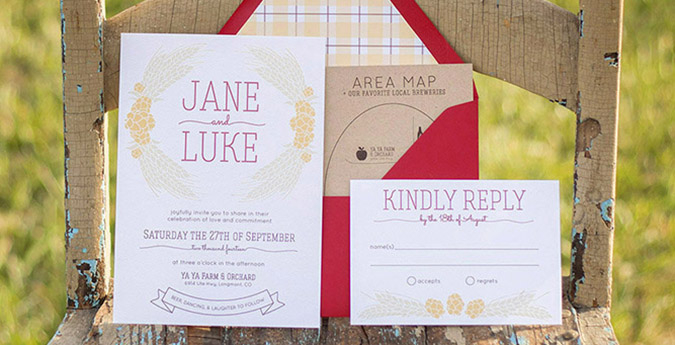 Wedding Chicks Free Invitations: Craft Beer Wedding Invitation On Wedding Chicks