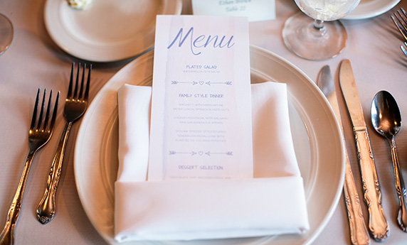 Watercolor Reception Menu