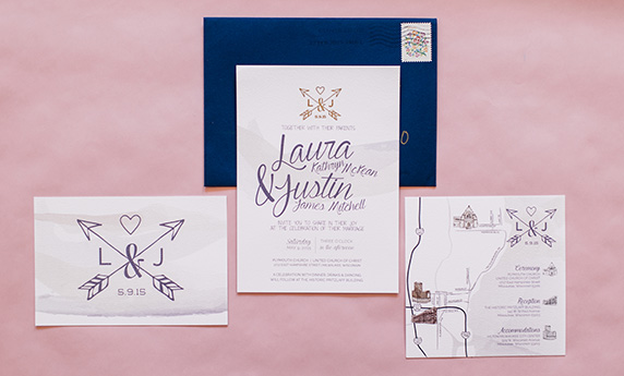 Watercolor Invitations Suite