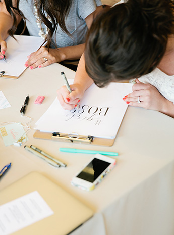 Something Styled Hand Lettering Workshop