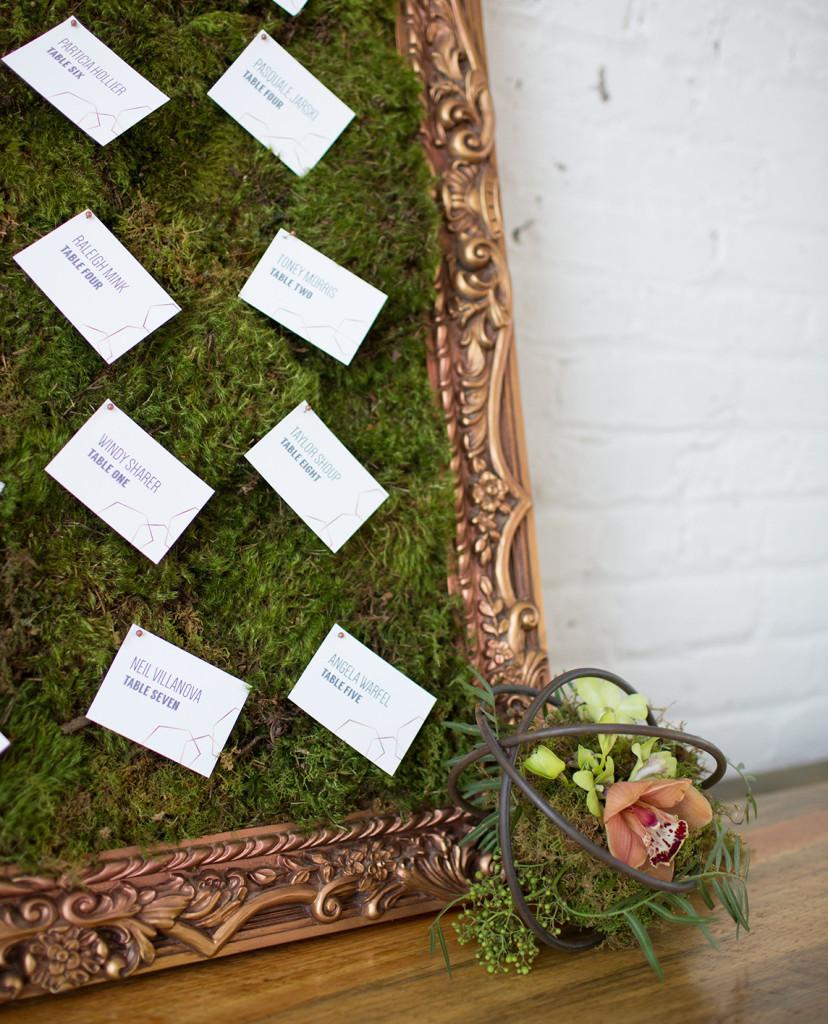 Moss wall escort cards