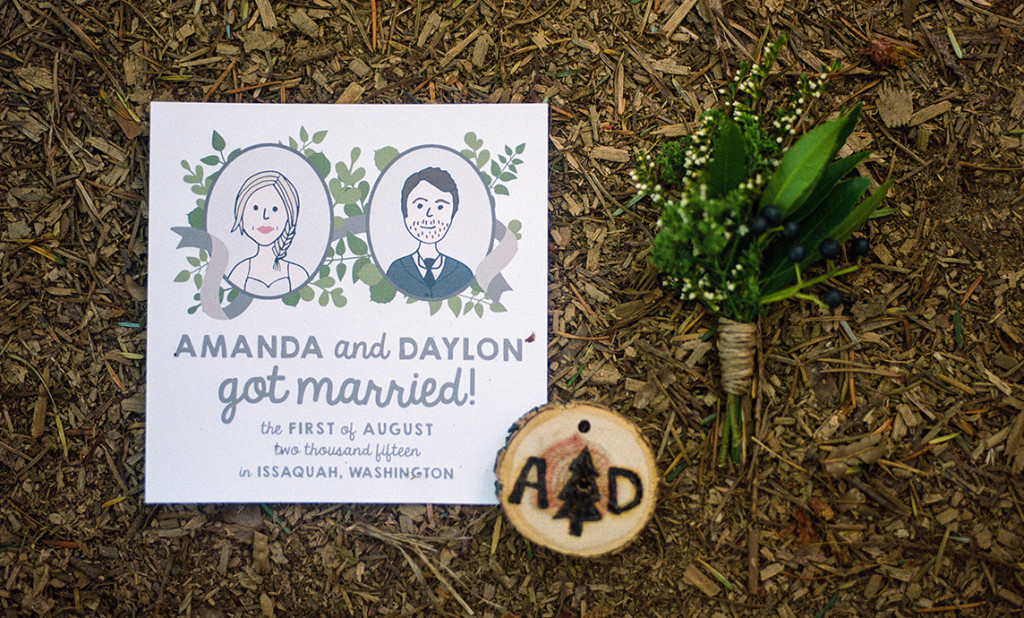 Illustrated Portrait Elopement
