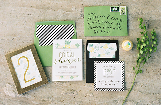 Preppy Bridal Shower Invitations
