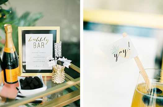 Gold Foil Drink Stirs