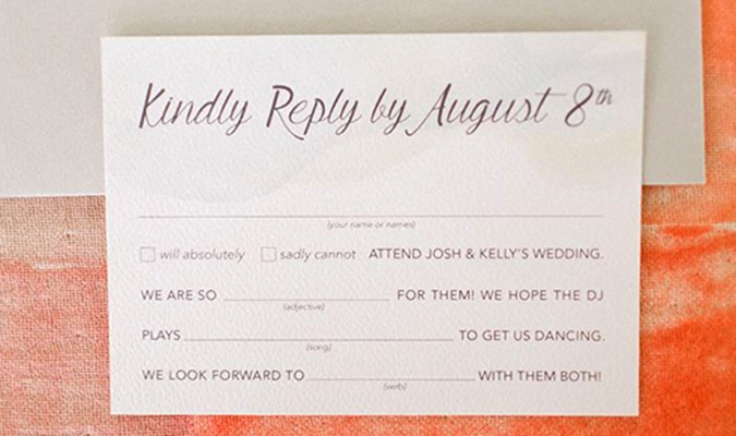 Rsvp To Wedding Invitation Wording: Everything You Need To Know About Your Wedding RSVPs