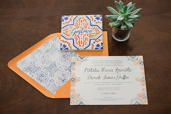Natalia U0026 Derek | Spanish Tile Wedding Invitations