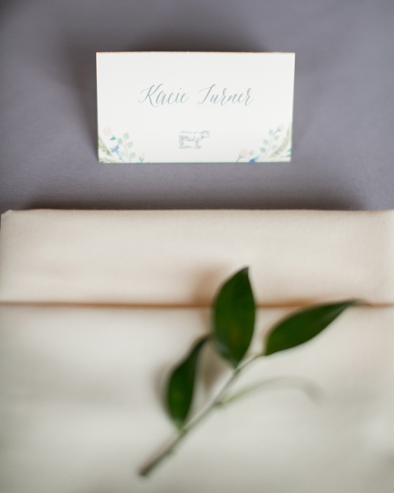 watercolor entree icon place card