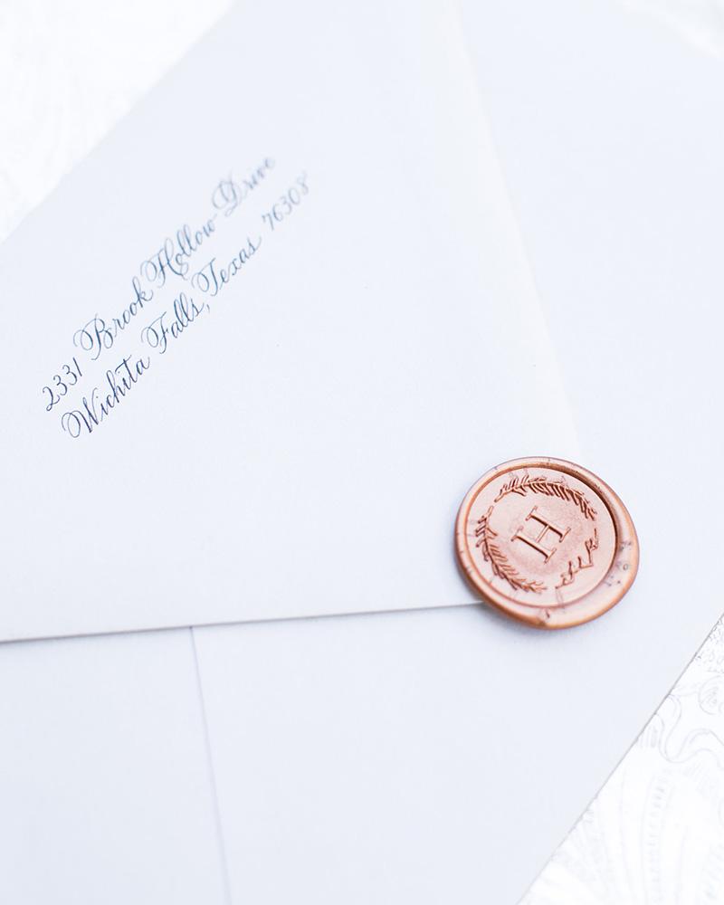 wedding wax seal Monogram