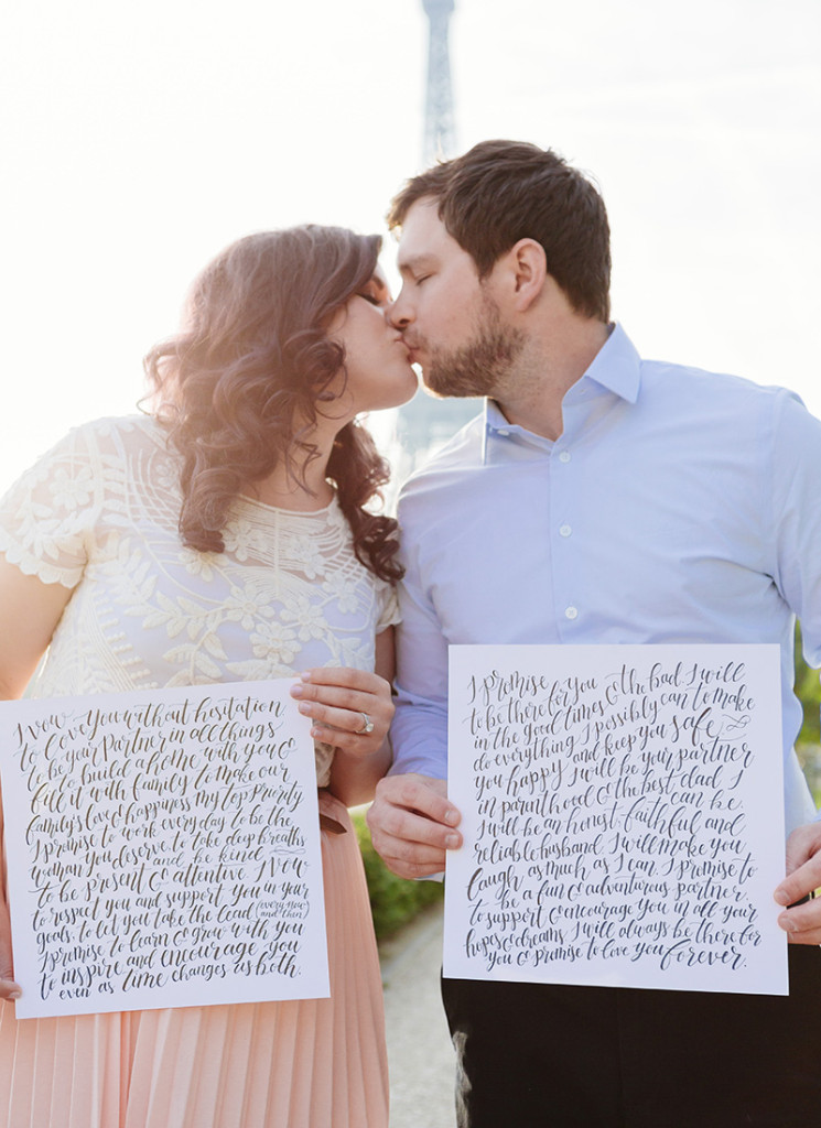 Hand Lettered Wedding Vows