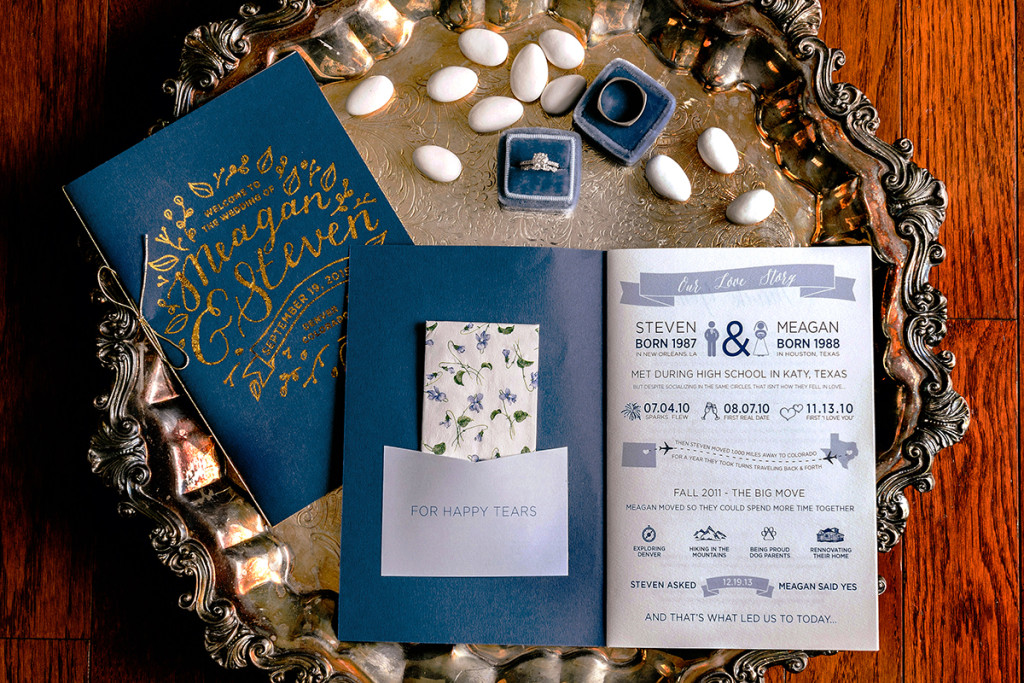 wedding program tissues love story