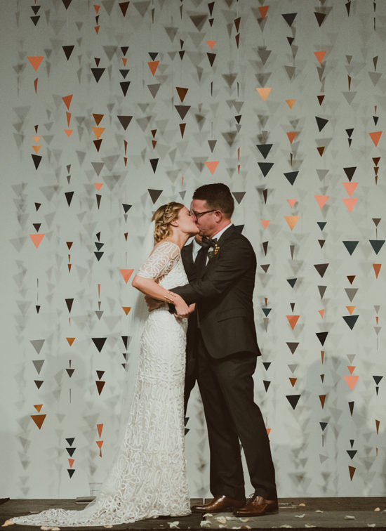 triangles wedding backdrop