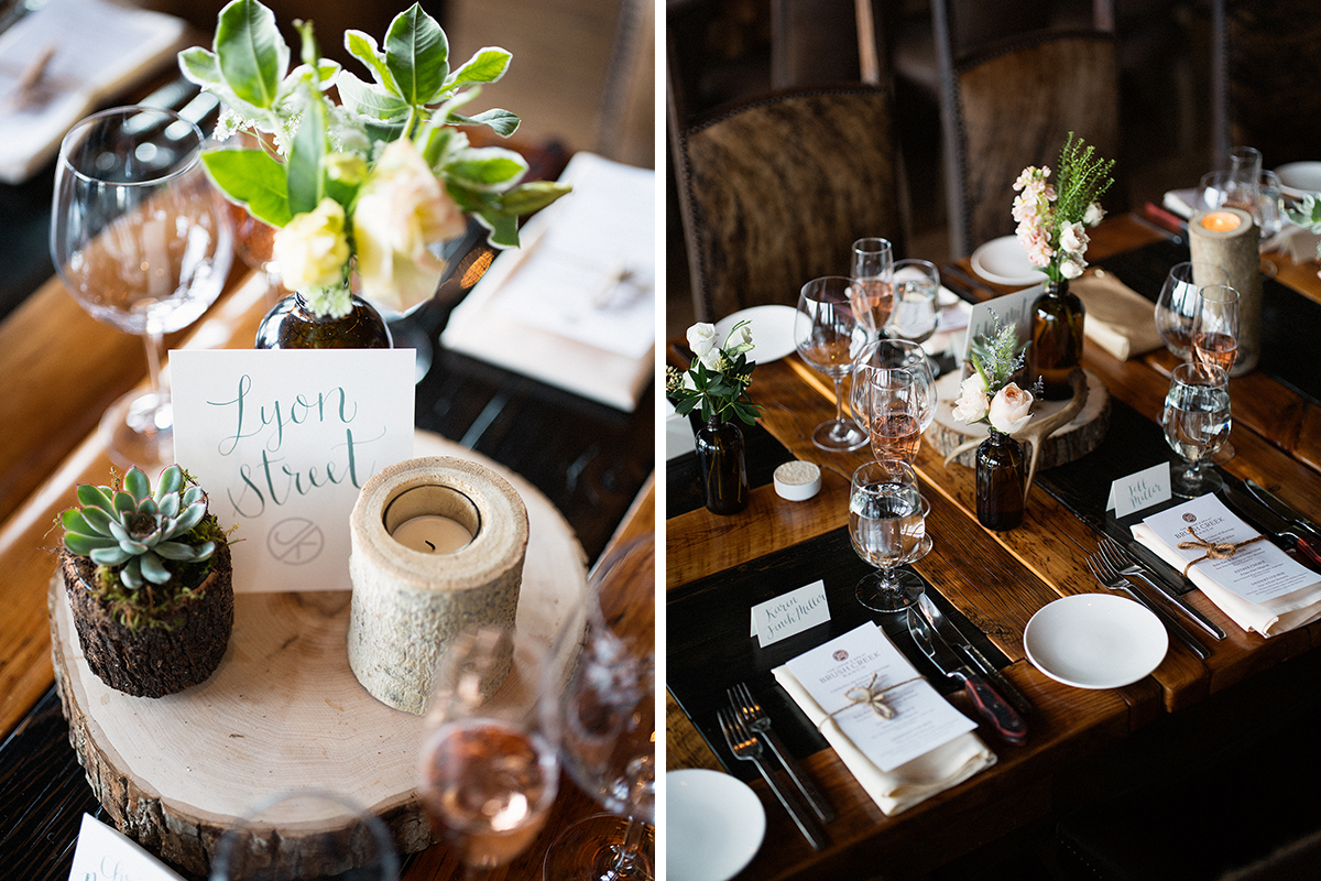 rustic calligraphy reception