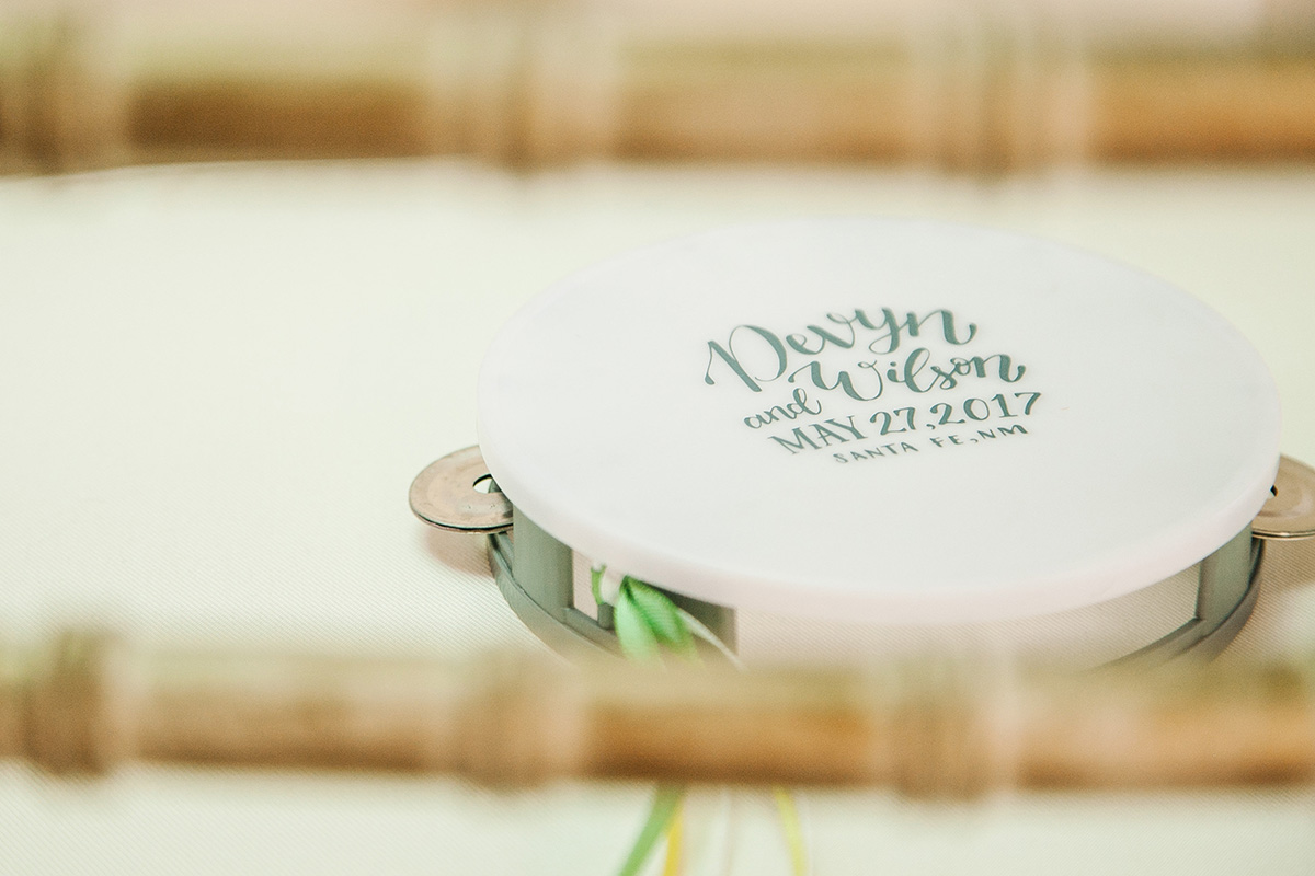tambourine wedding favor