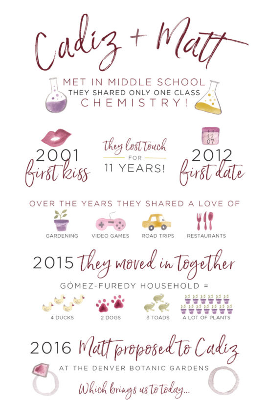 wedding love story infographic