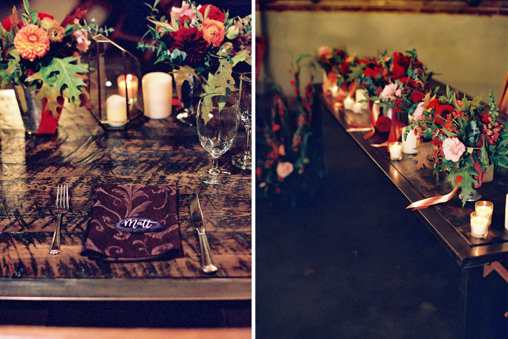 Urban Fall Wedding with Agate Place Cards